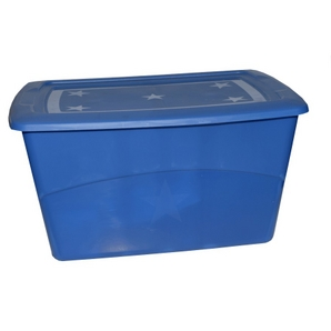 67 Litre Blue Tote Box, with Lid