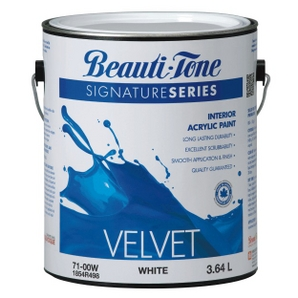 3.64L White Base Velvet Finish Interior Latex Paint