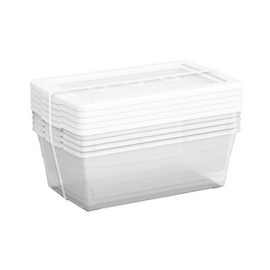 5 Pack 6.5 Quart Clear Omni Storage Boxes