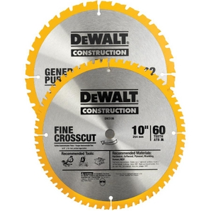 """2 Pack 10"""" 32/60 Tooth Construction Circular Saw Blades"""