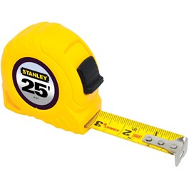 "1"" x 25' Yellow Tape Measure"
