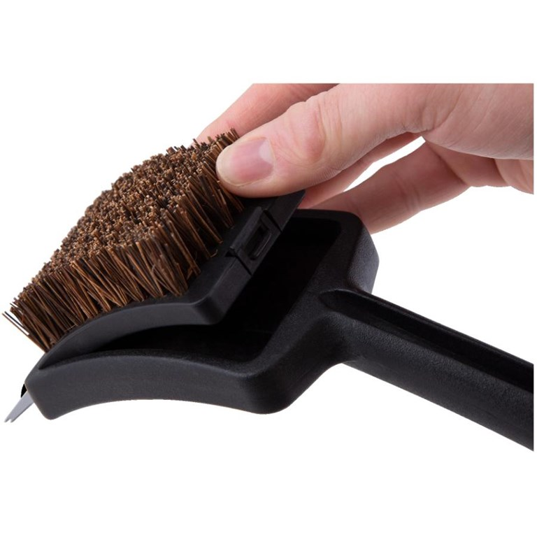 Palmyra Bristle Wood Handle Grill Brush