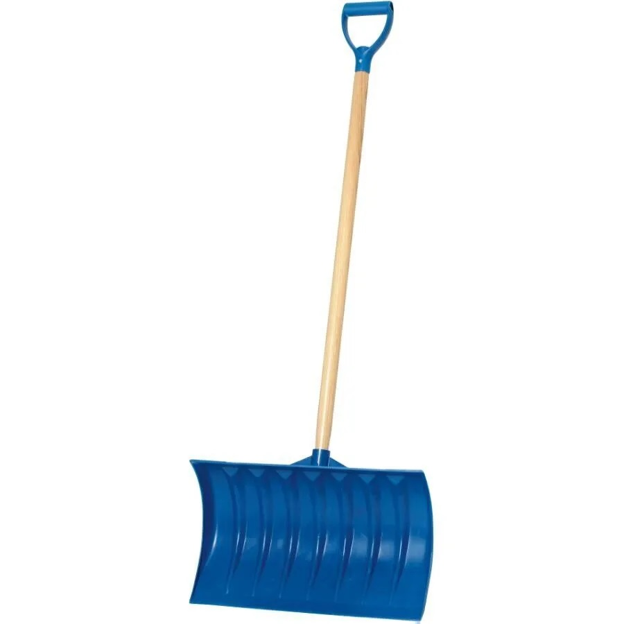 "21"" Blue Poly Blade 40"" Handle Snow Pusher"